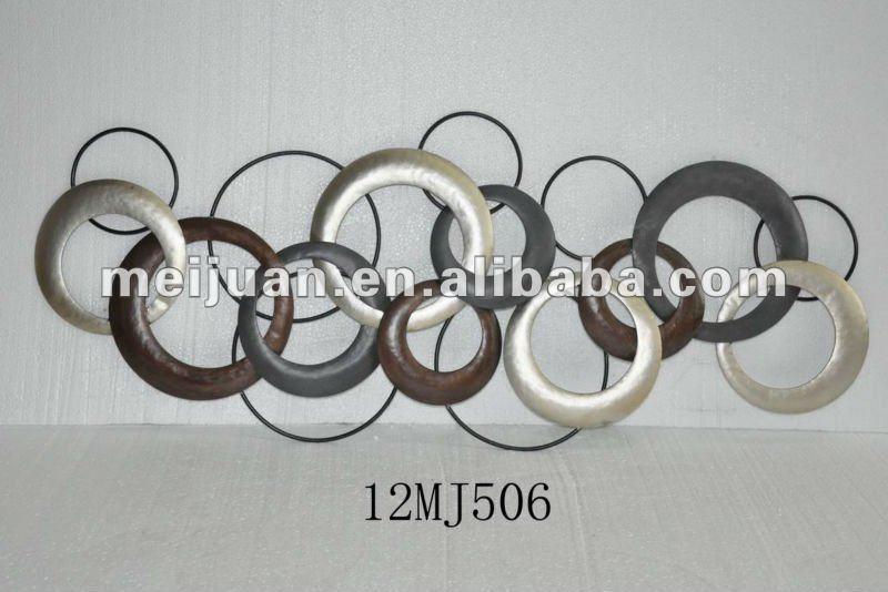 2012 d coration murale en m tal avec des cercles de fer for Deco mural en fer