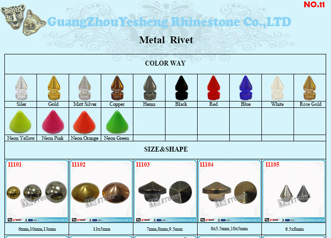 Wholesale metal studs and spikes for clothing