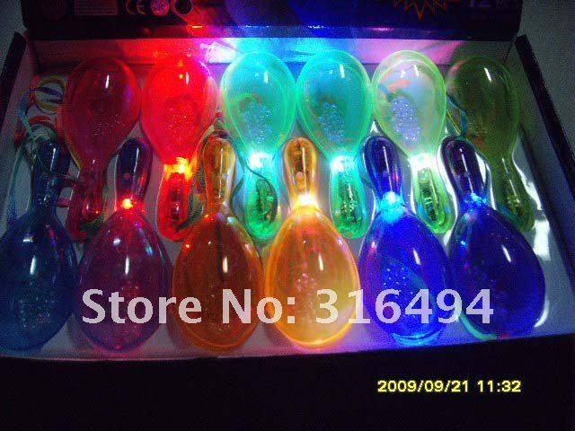 Freeshipping!!Flash salsa bar / party supplies / rattle / dust / sand hammer   Luminous instrument  Atmosphere props