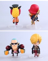 Фигурка героя мультфильма Anime One Piece Film Z Frank Sanji Nami Brook Q Version PVC Action Figure Collection Model Toys Dolls 4pcs/set OPFG268