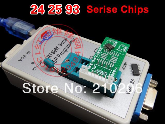 Купить Скидка! VGA ЖК-ПРОВАЙДЕР программатор RT809F Серийный ISP Программист с ICSP, ПК Ремонт 24-25-93 serise IC RTD2120