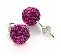 Серьги-гвоздики wedding earrings jewelry, fashion new style shamballa earrings jewelry CJE057