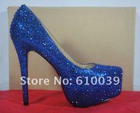 Туфли на высоком каблуке 140&160mm high heels 2012 rhinestone platform pumps wedges ladies high heel shoes wedding Bridal shoes
