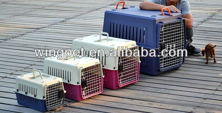 various size air dog carrier,eco-friendly pet transport plastic carrier