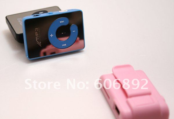 new design mirror surface 5pcs/lot hot sell support 1-8GB TF card mini mp3,mp3 player drop shipping + Free shipping