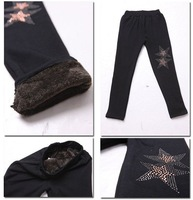 2012 Top sell&High quality girls Brand warmer leggings fashion bottom pants Black #1213 Free shiping