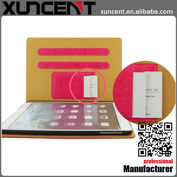 Special wallet design standable western cowboy leather case for the new ipad china manufacturer