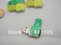 Потребительская электроника Bottle Shape Rotate USB 2.0 Card Reader For TF Micro SD Card Many Colors 500pcs/lot 20pcs/lot ChinaPost