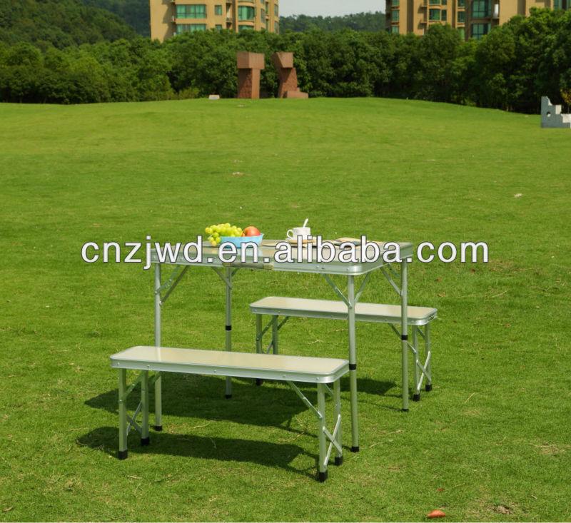 알루미늄 휴대용 접이식 피크닉 테이블 파라솔-접는 테이블 ...