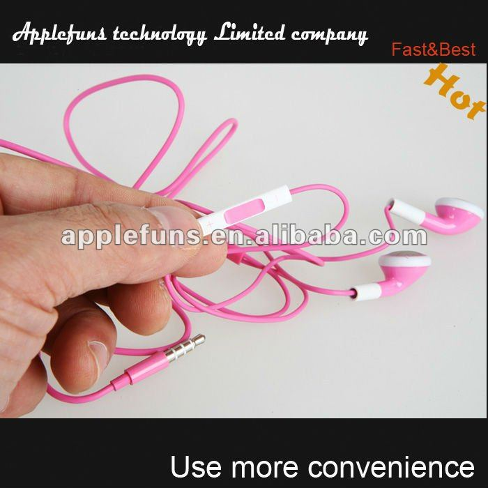 stereo earphone for iphone ,earphone winder for iphone,colorful earphone for iphone(M01)