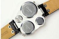 Наручные часы Super Dial Leather Mens Sport Quartz Watch Fashion Wrist Watch Drop Ship