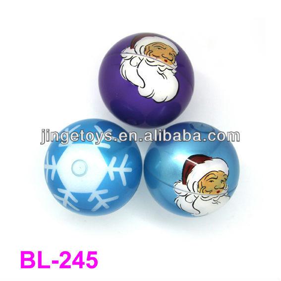 80mm Christmas air ball,bouncing ball,air ball printed with heart