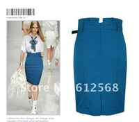 Женская юбка Formal Work Red Black Blue Business Knee-Length Skirt. Custom made Fashion Tailored Pencil Skirts. MR029
