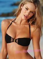 Женское бикини NWT]2012 Hot Stylish Black BRAZILIAN Style Women's VS Bikini! New Fashion Design Push Up Bra Swimwear Swimsuit Beachwear Apparel
