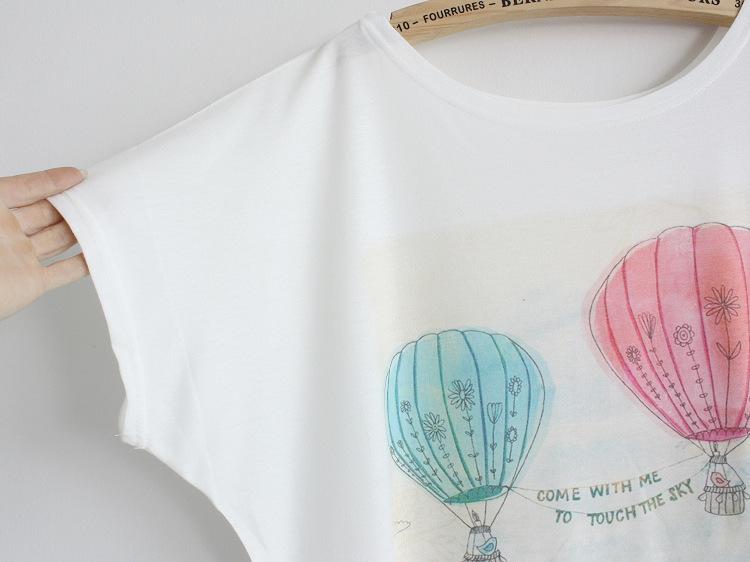 Магия] двойной шар женщин tshirt новые прибывают хорошего качества короткий рукав o шеи большой размер хлопка Футболка l46