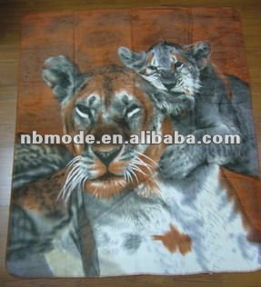 for home or picnic use, animal design printed fleece blanket