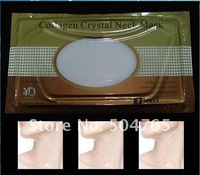 Free Shipping Guaranteed 100% New 10 pieces/lot Crystal Collagen Neck Mask Anti-Aging-Wrinkle Wholesale/Retail