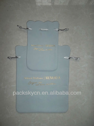 advertisement velvet gift bag with logo