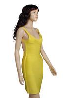 6 цветов продажи фирменных женщин повязку платья вечернее платье с открытой спиной bodycon