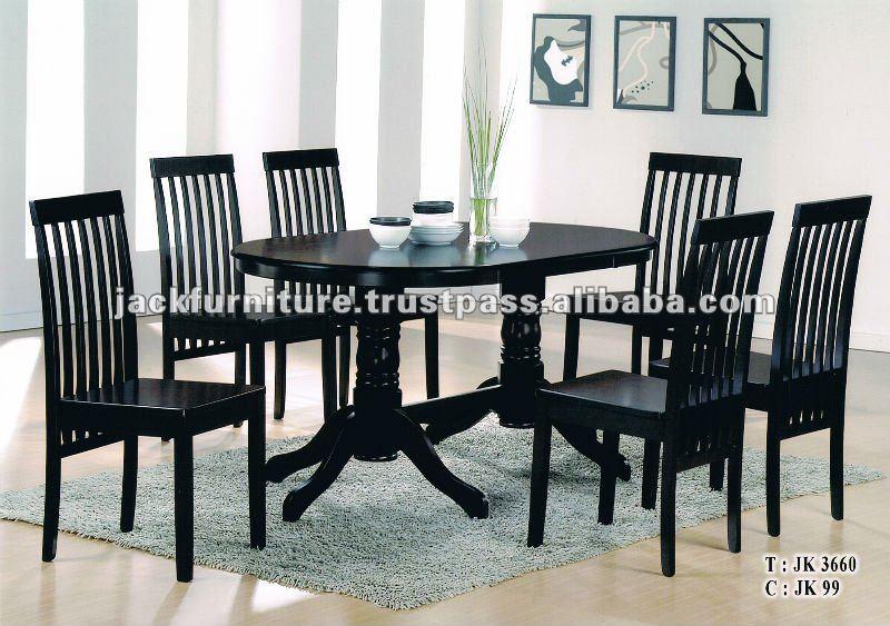 Mesa de jantar e cadeiras, Jogos de jantar de madeira