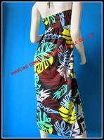 Женская туника для пляжа hot selling 2013 newest fashion beach dress with flora design printing