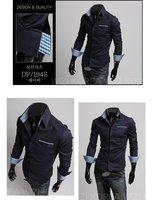 Мужская повседневная рубашка 2012 new Men's shirt Fashion Casual Slim Fit Stylish cotton Long Sleeve dress shirts Luxury