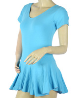 Женская одежда cotton short and long sleeve adult Ballet coverall leotard dance clothes with ruffle dress ten colors for you to choose JQ-101