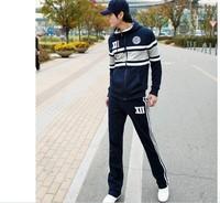 Korean Male Sport Sweater Set Leisure Suit, Coat + Sports pants
