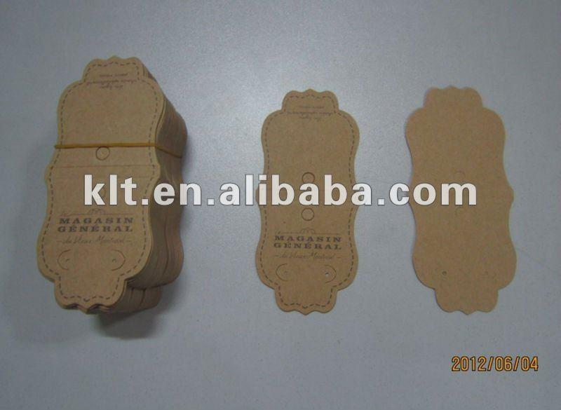 Custom kraft jewelry display cards