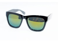 Free shipping wholesale+100% UV resistance  material simple style concave design women's sunglasses(2color mix) SN-038