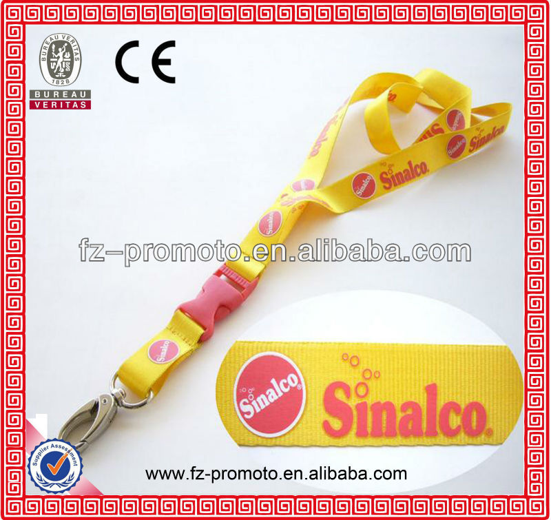 Cheap personalized lanyards nylon printed