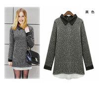 Женское платье fashion women autumn dress loose long sleeve long version of the sweater dress retail