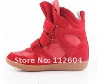 Женские кеды CPA Isabel Marant Women's BLUE Sneaker casual Leather Height Increasing shoes boots 36-4
