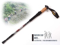 Alpenstock, super light outdoor cork stick straight shank,three period of adjustment , DL001