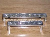 96mm Free shipping K9 crystal glass classic kitchen cupboard wardrobe drawer door handle/kitchen cabinet handle