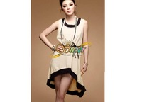 Женское платье Lady Vest Sleeveless Asymmetric Hem Dress Drop 4013#