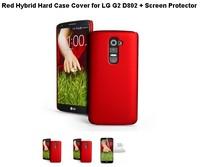 Чехол для для мобильных телефонов Red Hybrid Hard Case Cover for LG G2 D802 + Screen Protector