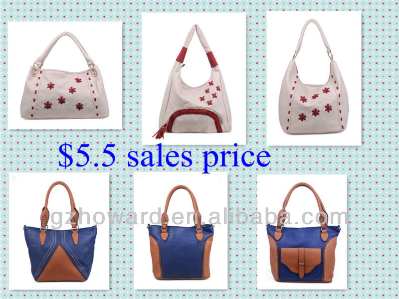 Factory sale start From $3.8 Fashion Leather Handbag for Ladies