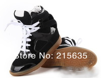 Женские кеды tide shoes with leather system in high help increased leisure shoes