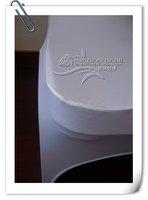 продажи белый Банкетный спандекс стул крышка с желтой ленты /lycra стул крышка для свадеб