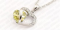 crystal heart necklace fashion necklace jewelry made with Swarovski Elements