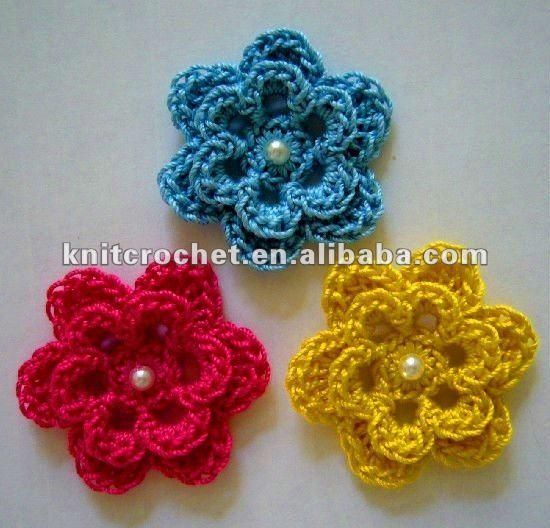 Ganchillo a mano de la flor con cuentas Made in China ( KCC ...