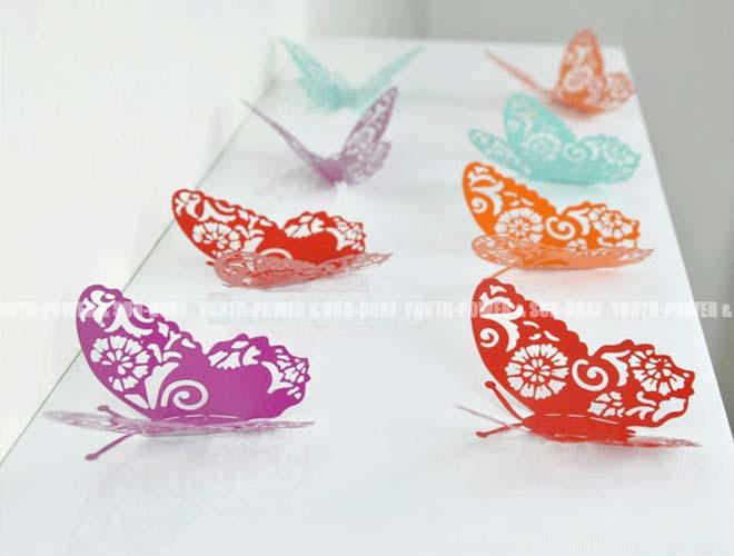 Rustgevende Kleuren Slaapkamer Baby : Butterfly Wall Art Stickers