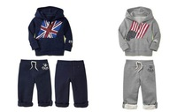Комплект одежды для девочек 2012 hot sale fashion clothes for toddlers, toddler clothing, flag baby clothing