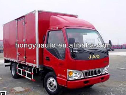 JAC van trucks/ box van truck/dry cargo van truck