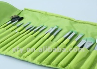 Кисти для макияжа 23PCS Professional Synthetic Fiber Green make up kit makeup brushes makeup brush set