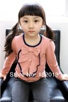 Футболка для девочки 2013 latest spring models lotus leaf collar girls t-shirt