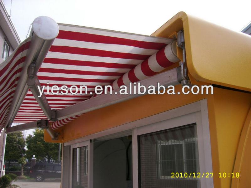 Francês Crepes carrinho quiosque com Canopy na Top