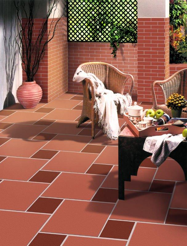Terracotta outdoor floor tiles
