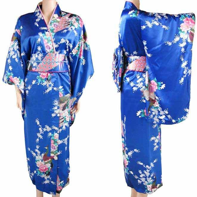 Blue Kimono Dress - KD Dress